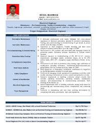 Electrical Testing Engineer Resume Byjul Rahman Cv Updated