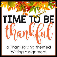 fall thanksgiving writing assignment a thankful letter by lazy