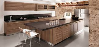 Black Granite Kitchen by Modern Kitchen Decoration Using Modern Walnut Wood Kitchen
