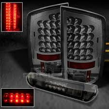 2003 dodge ram tail lights dodge ram 2500 2003 2005 smoked led tail lights and third brake