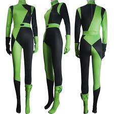 kim possible shego costume super villain halloween costume lycra