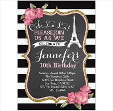 eiffel tower invitations 21 birthday invitation templates free sle exle format