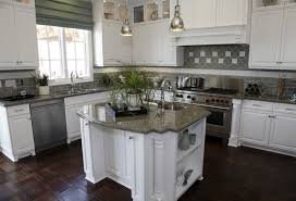 Backsplash Ideas With White Cabinets by 35 Striking White Kitchens With Dark Wood Floors Pictures