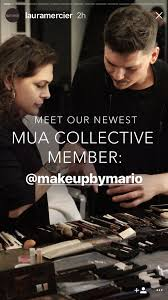 laura mercier instastory announcing partnership with makeup by mario