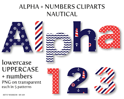 number clipart nautical pencil and in color number clipart nautical
