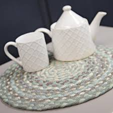 Braided Rugs Round by Braided Rug Company Placemats Seaspray Placemats From Braided Rug