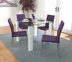 Purple Dining Room Chairs Buy Acton Dining Set With 4 Purple Chairs Cfs Uk