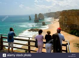 tourists viewing twelve apostles great ocean road port campbell