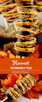 harvest marshmallow pops two crafting