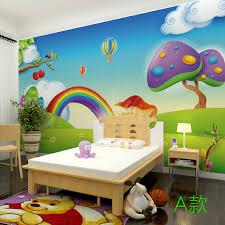 fresque chambre b pas cher 3d stéréo arc en papier peint enfants chambre toute