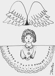 christmas angel templates 3 šablony andělíčci коледни шаблони