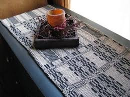 Primitive Table Runners by Primitive Black And Tan Woven Coverlet Table Runner 32