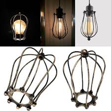 industrial cage light bulb cover bronzed retro vintage industrial metal iron wire bulb cage guard