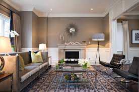 grey camel color combination living room contemporary with