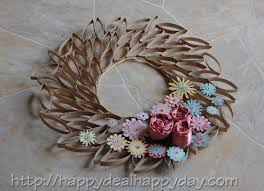 toilet paper roll crafts toilet paper roll wreath frugal craft