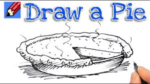 how to draw thanksgiving how to draw a pie real easy for kids and beginners youtube