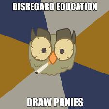 Art Student Owl Meme - alyssa grant ridge current state