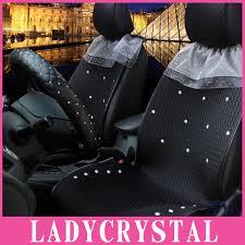 housse de si es auto ladycrystal de luxe strass ventiler housse de siège de voiture