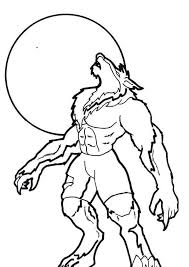 scary werewolf coloring pages coloringstar