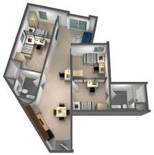 """Bunch Ideas 50 Four """"4"""" Bedroom Apartment House Plans Also 4"""