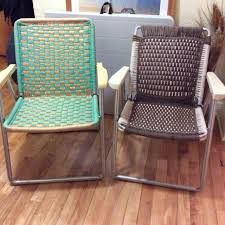 Vintage Aluminum Folding Chairs Find More Old Aluminum Frame Lawn Chairs Recovered Using Phentex