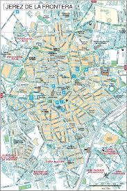 La City Map Jerez De La Frontera City Center Map