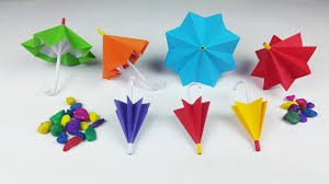 How To Make Paper Umbrellas - how to make a paper umbrella that open and closes new version
