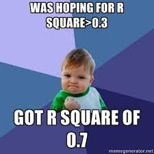 R Meme - r square success kid meme statistics the lovestats blog