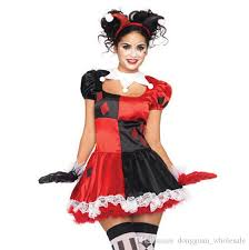 costumes for women new arrival harley quinn costume women clown costume for