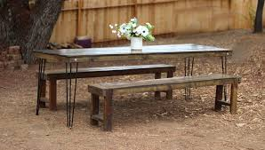 Farm Table Pictures by Hairpin Leg Farm Table Rentals San Diego Modern Wood Table Rental