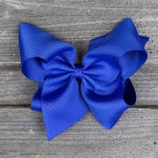 blue bows medium hair bow smocked auctions