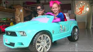power wheels jeep frozen power wheels frozen mustang ride on kids toy car unboxing w