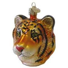 vintage blown glass tiger tree ornament 5 made in