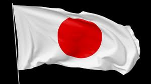 national flag of japan with flagpole waving in the wind 3d