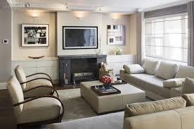 Nice Room Layout Living Room Cream Leather Armchair Rectangle Coffee Table Nice