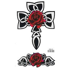 compare prices on rose cross tattoo online shopping buy low price