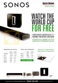 harvey norman sonos wireless 3 1 home theatre system playbar sub