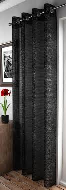 Glitter Window Curtains Adele Sparkle Lace Eyelet Sheer Voile Ring Top Window Door Curtain