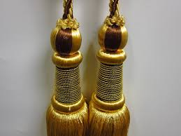 Gold Curtain Tassels Airdodo European Style Dual Head Gold Curtain Tassel Tie Backs 11