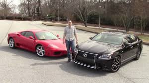 lexus is jalopnik would you rather ferrari 360 modena vs lexus ls460 youtube
