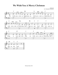 the chords to we wish you a merry christmas quora
