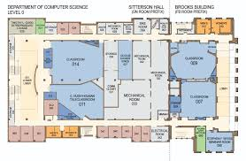 floor plans for sitterson hall u0026 brooks building computer science