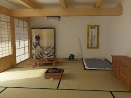 plush simple asian interior design style of japanese bedroom with