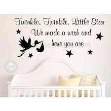 Twinkle Little Star Nursery Decor Twinkle Twinkle Little Star Nursery Wall Sticker Baby Boy