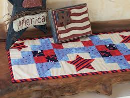 red and white table runner all stars table runner kit red white and blue patriotic american