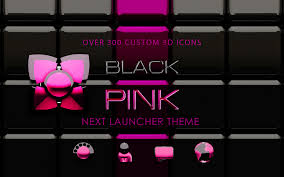 Next by Pink Black 3d Next Launcher Android Apps On Google Play