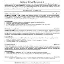 Retail Resume Objective Sample by Retail Example Resume Resume Examples For Retail Management Best