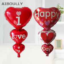 valentines day baloons big heart baloon i you happy day balloons party decoration