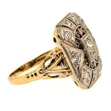 what is palladium jewelry vintage palladium yellow gold diamond ring claude morady estate