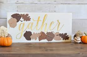 diy gather thanksgiving sign the happy scraps